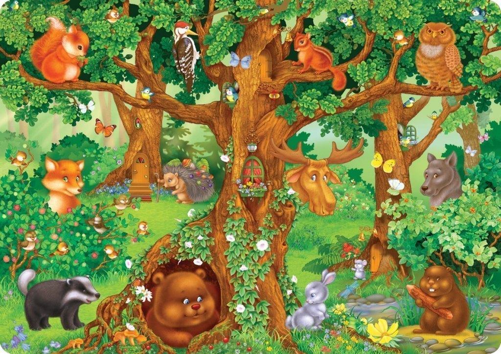 Детская картинка лес