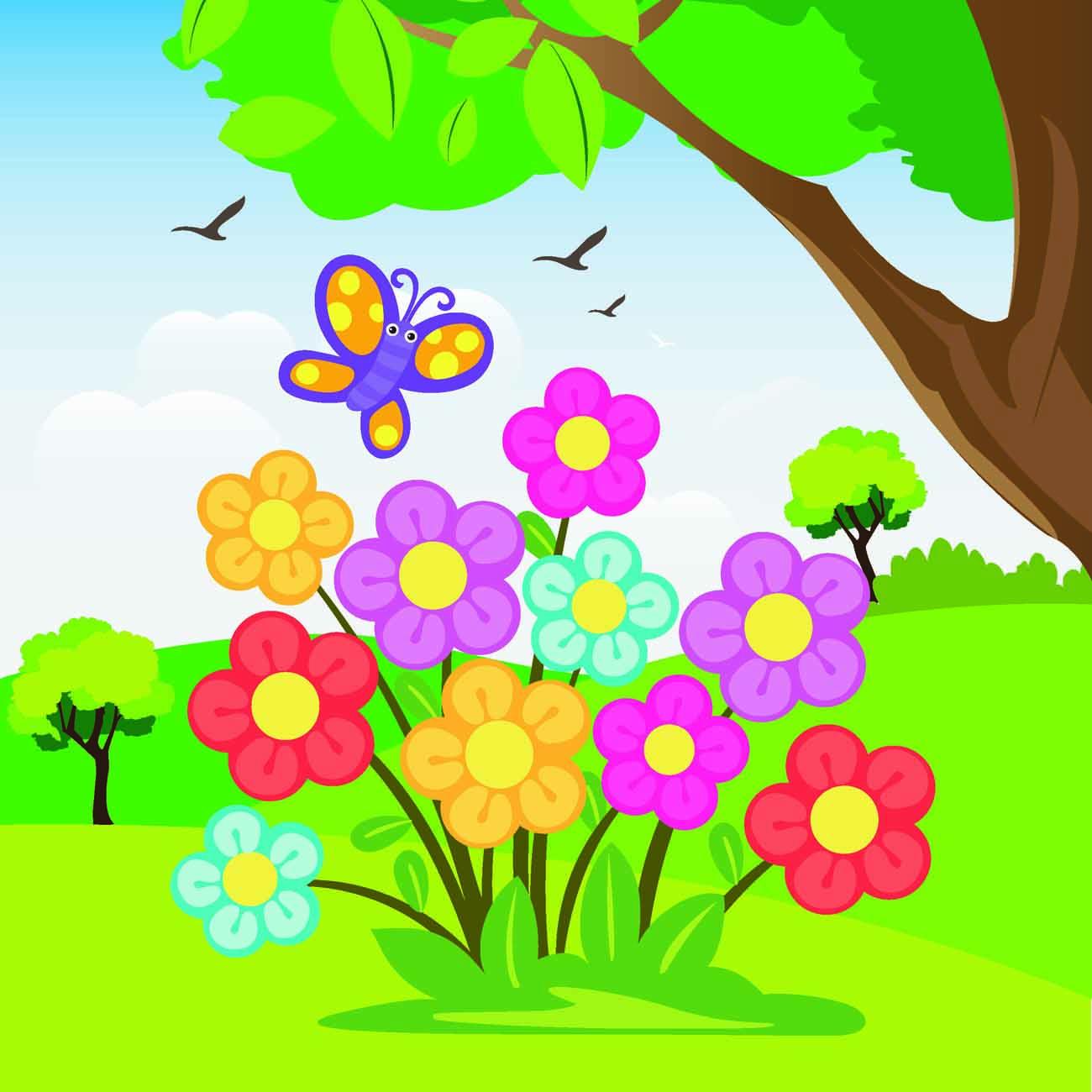 Для надюшки, поляна с цветами картинки рисунок