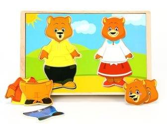 Деревянные пазлы Два медведя (Д182) фотография 1