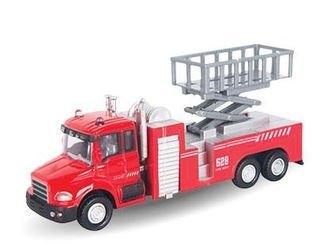 """Фото Масштабная модель пожарная машина с подъемником """"LIFT FIRE TRUCK"""" 1:48 (34124)"""
