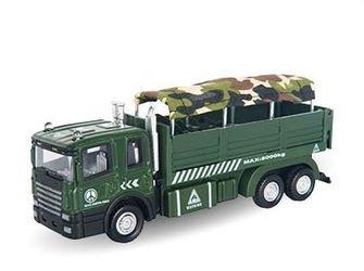 """Фото Масштабная модель Военный грузовик для перевозки солдат """"MILITARY AUTOTRUCK"""" 1:48 (34136)"""