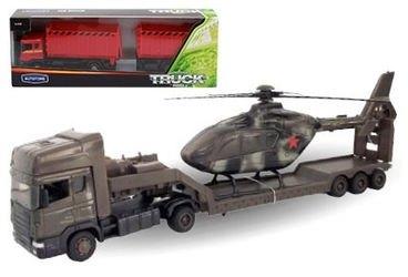 Фото Масштабная модель Грузовик Скания Военная с вертолетом 1:48 (48747/10872-08)