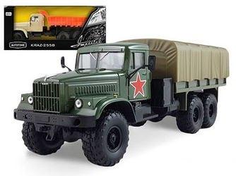 Фото Масштабная модель грузовика КрАЗ-255Б (KRAZ-255B) Армейская 1:43 (65079)