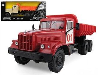 Фото Масштабная модель грузовика KRAZ-256B Пожарная охрана 1:43 (65084)