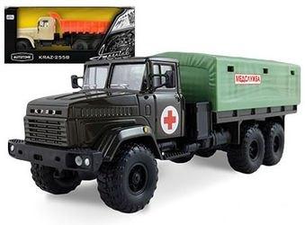 Фото Масштабная модель грузовика КрАЗ-6322 (KRAZ-6322) Медслужба 1:43 (65085)