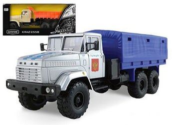 Фото Масштабная модель грузовика КрАЗ-6322 (KRAZ-6322) Полиция 1:43 (65087)