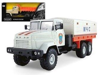 Фото Масштабная модель грузовика KRAZ-6322 МЧС 1:43 (65088)