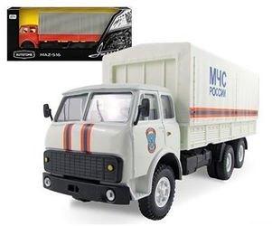 Фото Масштабная модель грузовика MAZ-516 МЧС 1:43 (65094)