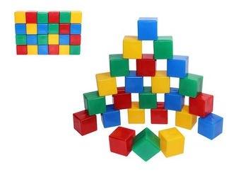 Фото Строительный набор пластмассовых кубиков JUNIOR 24 шт (5178)
