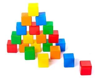 Фото Строительный набор пластиковых кубиков 20 элементов (5013/5254)