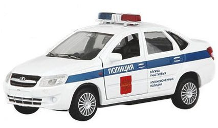 Фото Масштабная модель Лада Гранта Полиция 1:36 (33952W-RUS)