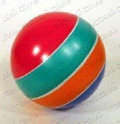 Мяч резиновый 100 мм 20 ЛП (в полоcку) фотография 1