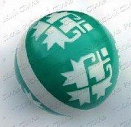 Фото Мяч резиновый 200 мм 33 ЛП (с узором)