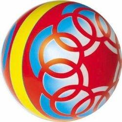 Фото Мяч резиновый 200 мм 34ЛП (с узором)