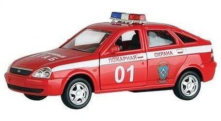 Фото Масштабная модель Лада Приора Пожарная охрана 1:36 (33983)