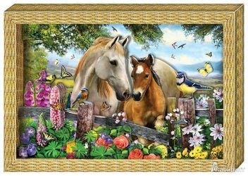 "Фото Набор для картины ""Я люблю лошадок"" (АБ 21-115)"
