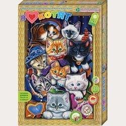 """Фото Набор для картины """"Я люблю котят"""" (АБ 21-111)"""