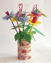 Набор для детского творчества Собери букет цветов (9 шт. в пакете) фотография 1
