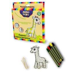 """Фото Набор для раскрашивания надувной игрушки """"Жираф"""" (текстиль) 24537"""
