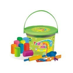 Фото Тесто для лепки 10 цветов с инструментами и прессом (Т1206)