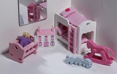 Набор мебели для кукольного домика Детская спальня  фотография 1