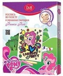 """Фото Набор для творчества Роспись по холсту и украшение глиттером """"My Little Pony Пинки Пай"""" (54119)"""