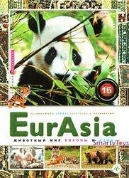 Фото Развивающая книжка раскраска с наклейками EurAsia Животный мир Европы и Азии