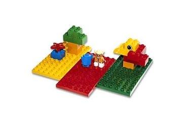 Фото 2198 Три строительные пластины Duplo (конструктор Lego Duplo)