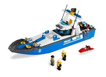 7287 Полицейский катер (конструктор Lego City) фотография 1