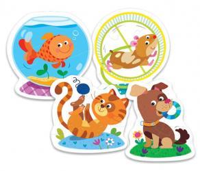 Контурные пазлы для малышей - Домашние любимцы (36053) фотография 2