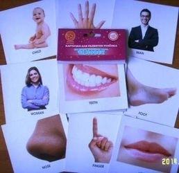 """Фото Карточки для развития ребенка Мои первые английские слова """"Человек"""""""