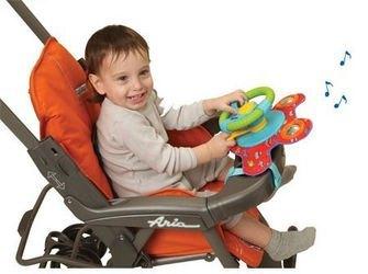 Руль для игры в детской коляске фотография 2