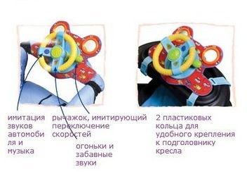 Руль для игры в детской коляске фотография 4