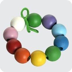 Шнуровка Бусики шары (10 шт., дерево) фотография 1