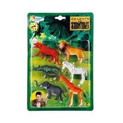 Фото Набор фигурок Дикие животные 6 штук (HCD335-6)