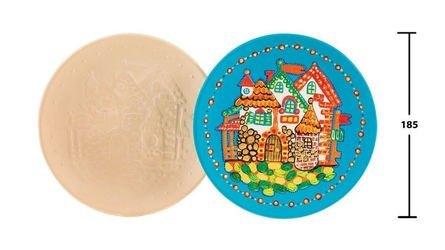 Фото Декоративная тарелка из глины для росписи Сказочный город-Волшебный мир красок (282489)