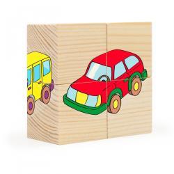 Деревянные кубики-пазл 4 элементаТранспорт (RDI-D483a) фотография 2