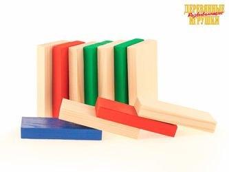 Фото Набор деревянных плашек, 12 штук (Д167б)