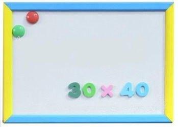 Фото Детская доска для рисования магнитно-маркерная 30х40 (2 магнита в комплекте,Д141а)