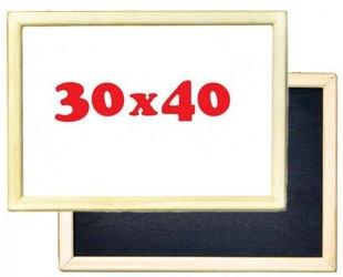 Фото Детская доска для рисованиямагнитно-маркерная-меловая 30х40 см (рама не окрашена, 2 магнита в комплекте,Д142б)