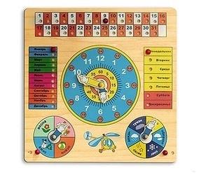 Фото Детские часы-календарь (Д-034а)
