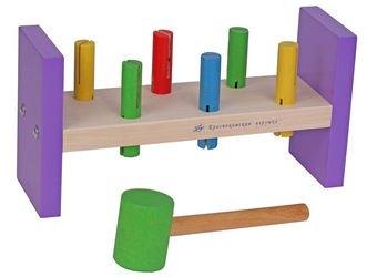 Фото Развивающая деревянная игра Стучалки (Н01)