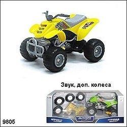 """Фото Масштабная модель  Мотоцикл """"Квадробайк"""" 1:16 звук и запасные колеса (70182)"""
