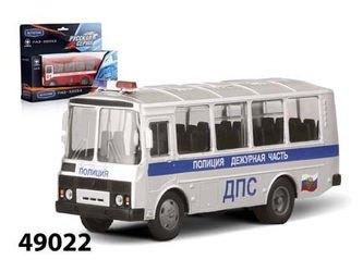 Фото Масштабная модель автобус ПАЗ 32053 ДПС дежурная часть 1:43 (49022)