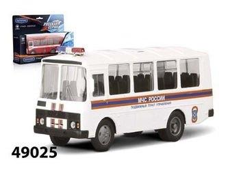 Фото Масштабная модель автобус ПАЗ 32053 МЧС 1:43 (49025)