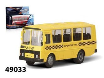 Фото Масштабная модель автобус ПАЗ 32053 Маршрутное такси 1:43 (49033)