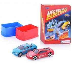 Фото Игровой набор с машинками меняющими цвет с боксами Color Twisters Мегаполис (33926)