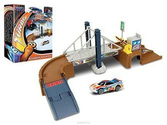 "Фото Масштабная модель MEGAPOLIS ""Turbo мост"" с машиной DreamWorks 1:60 (76743/02-RUS)"
