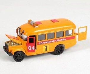 """Фото Масштабная модель """"КАВЗ 3976-автобус"""" Аварийная службасо звуком и светом (СТ10-069-7)"""