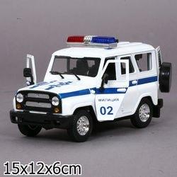"""Фото Масштабная модель УАЗ Хантер 31514-2 """"Полиция 02"""" (с сиреной и мигалками)"""